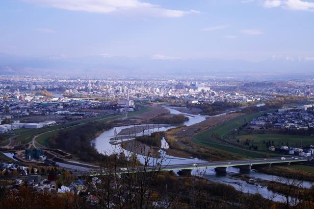 旭川市(嵐山展望台より)