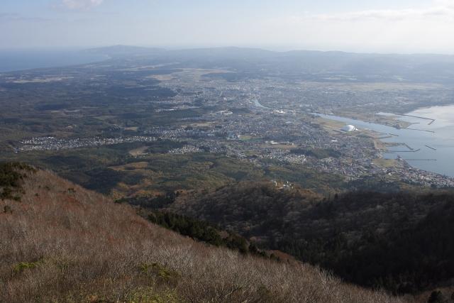 むつ市(釜臥山より)