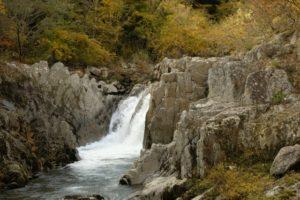 夏井川渓谷(河口から直線距離約15km)