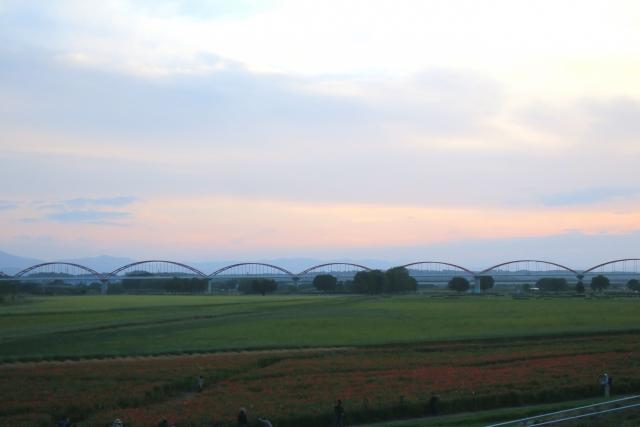 荒川の水道橋(長さ日本一の水道橋・鴻巣市)