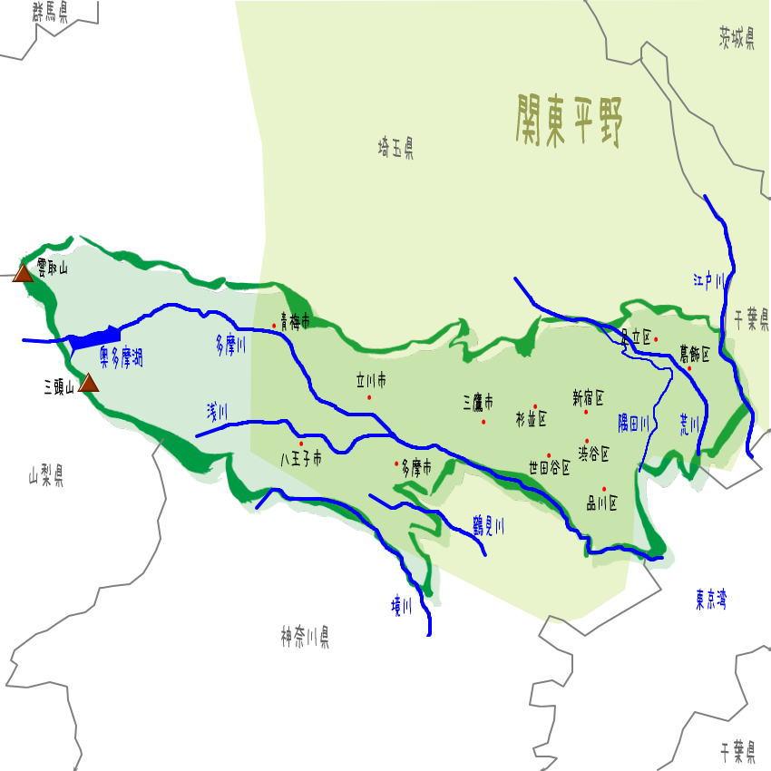 東京都の地理・地形・地図