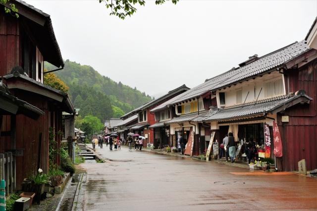 熊川宿(三方上中郡 北川中流部)