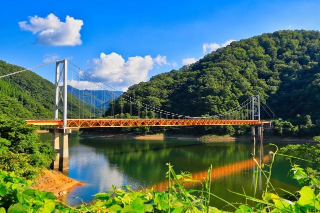 九頭竜湖にかかる箱ケ瀬橋