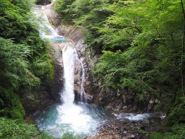 七ツ釜五段の滝(山梨市)