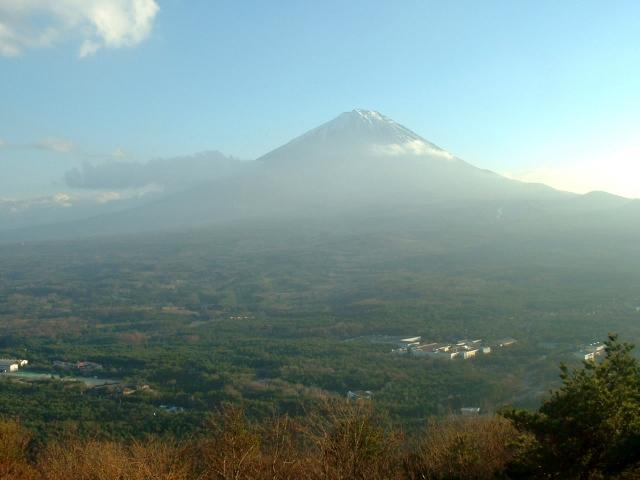 富士山と青木ヶ原樹海(紅葉台レストハウスより)