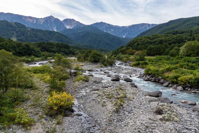 白馬三山(白馬岳、杓子岳、白馬鑓ヶ岳)