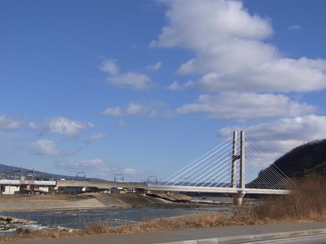 上田ハープ橋(千曲川・北陸新幹線)
