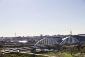 矢作川にかかる久澄橋(豊田市)