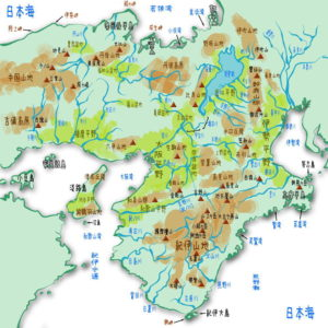 近畿地方の地理・地形・地図