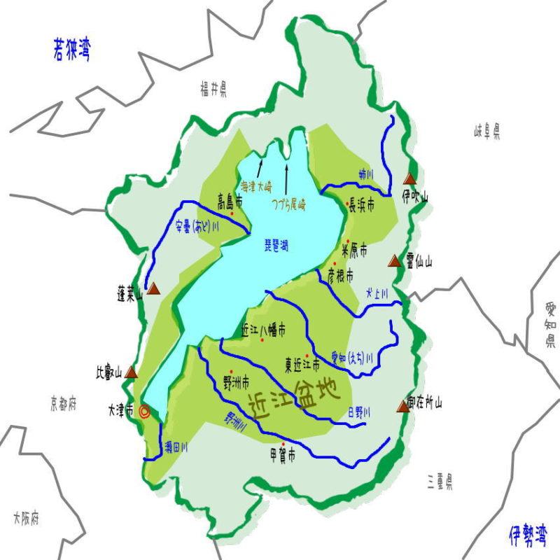 滋賀県の地形・地理・地図
