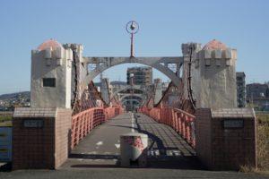 石川にかかる玉手橋(大和川合流地より1.4km上流)