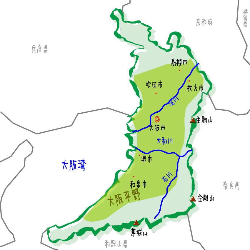 府 地図 大阪