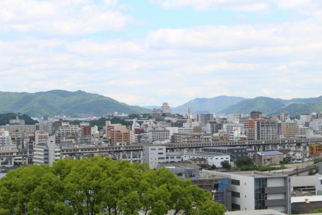 姫路市 中央に姫路城