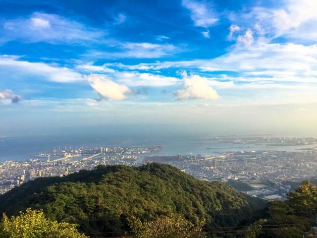 六甲山からの神戸市内眺望