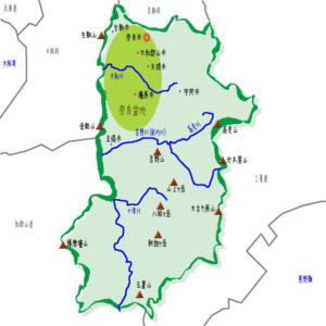 奈良県の地理・地形・地図