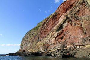 知夫里島の赤壁(隠岐諸島)