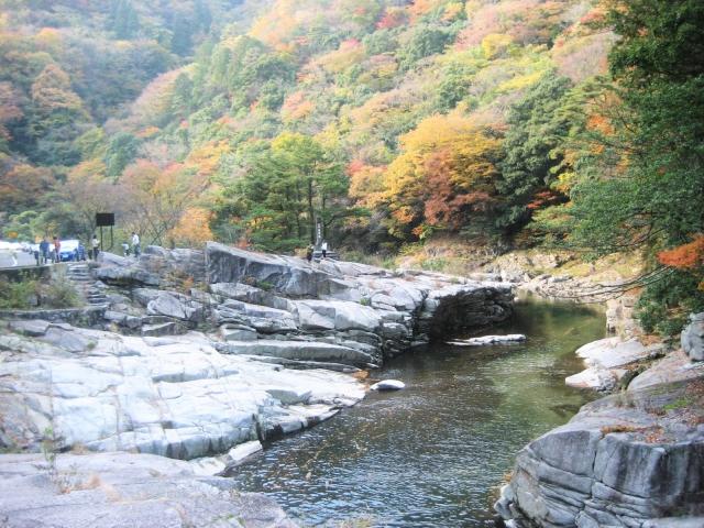 奥津渓(苫田郡鏡野町)