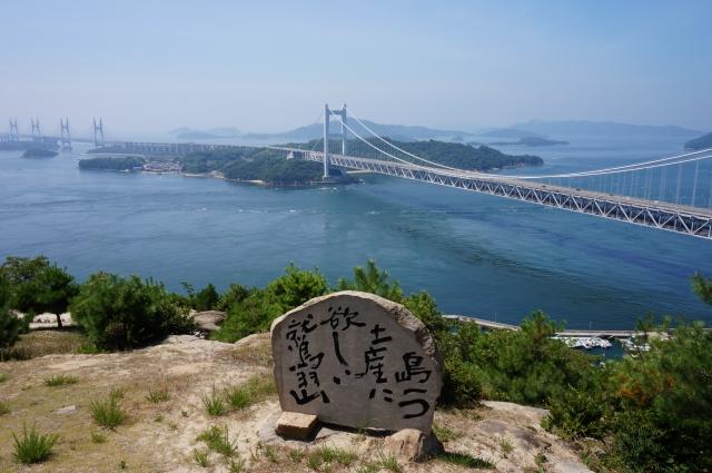 下津井鷲羽山(倉敷市)からの瀬戸大橋