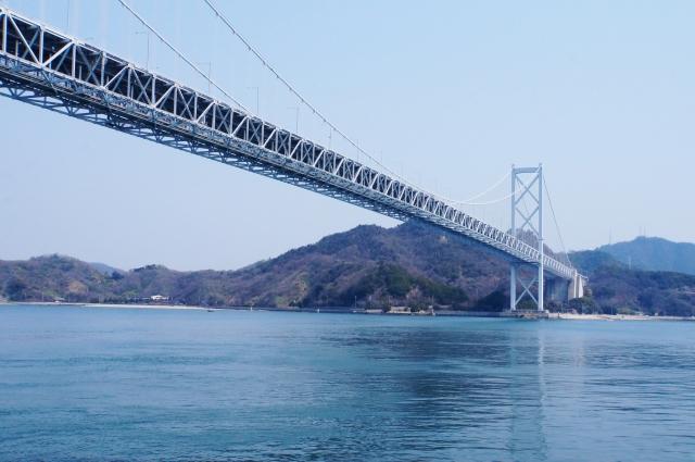 因島大橋。因島側から撮影。対岸は向島