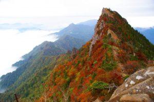 石鎚山天狗岳。四国最高峰