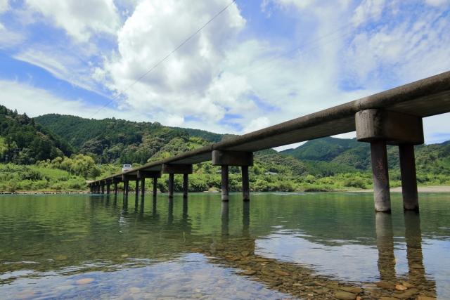 四万十川 三里沈下橋