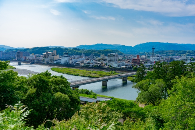 人吉盆地の球磨川