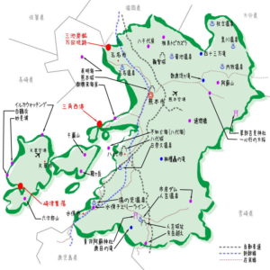 熊本県の観光地・名所一覧・地図