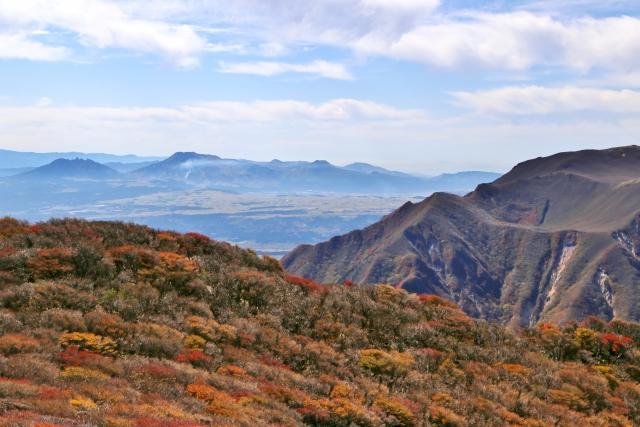 九重連山と阿蘇五岳