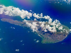 上空から見た沖永良部島
